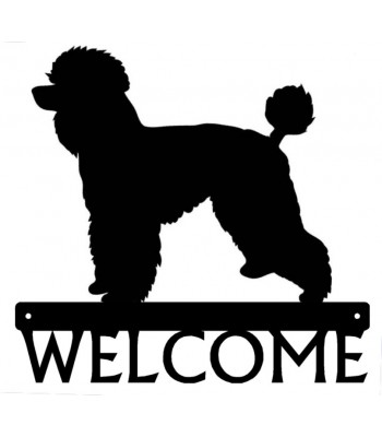 Poodle (Natural) Dog Welcome Sign