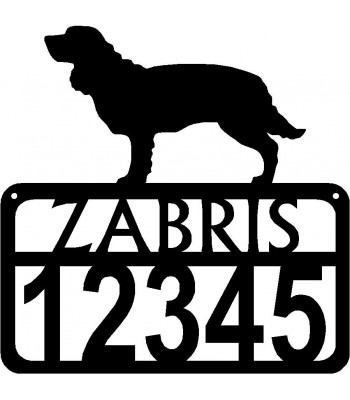 Personalized Dog Sign with Name & house numbers: American Water Spaniel