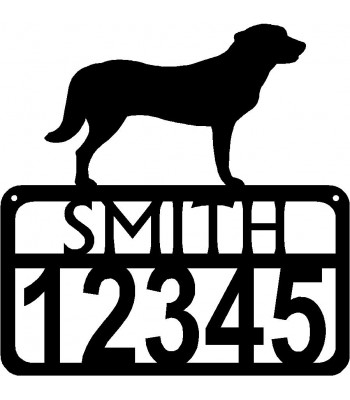 Personalized Dog Sign with Name & house numbers: Anatolian Shepherd