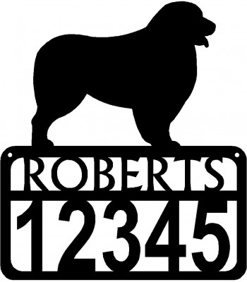 Personalized Dog Sign with Name & house numbers: Australian Shepherd