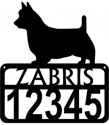 Personalized Dog Sign with Name & house numbers: Australian Terrier