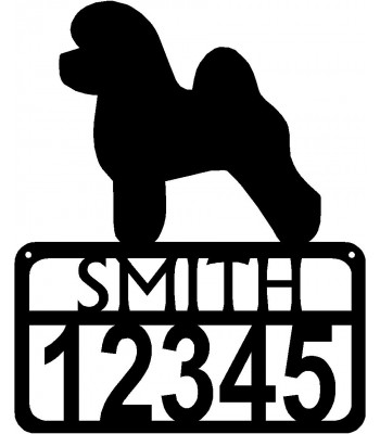 Personalized Dog Sign with Name & house numbers: Bichon Frise
