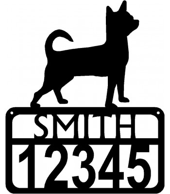 Personalized Dog Sign with Name & house numbers: Chihuahua