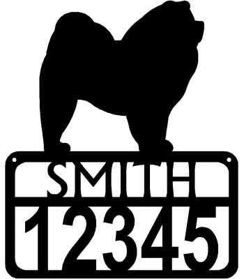 Personalized Dog Sign with Name & house numbers: Chow Chow