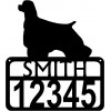 Personalized Dog Sign with Name & house numbers: Cocker Spaniel