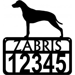 Personalized Dog Sign with Name & house numbers: Dalmatian