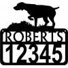 Personalized Dog Sign with Name & house numbers: German Shorthaired Pointer on Point