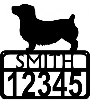 Personalized Dog Sign with Name & house numbers: Glen of Imaal Terrier