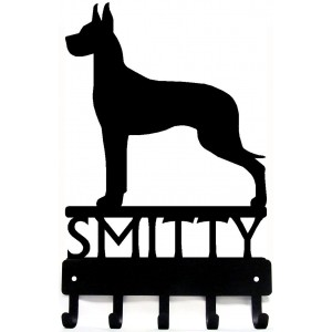 Great Dane - Personalized Name Dog Key Rack/ Leash Hanger