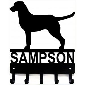 Chesapeake Bay Retriever - Personalized Name Dog Key Rack/ Leash Hanger