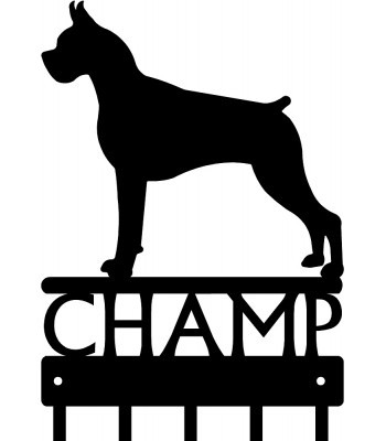 Boxer - Personalized Name Dog Key Rack/ Leash Hanger