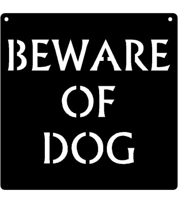 Caution Warning Signs: Beware Of Dog 11x11