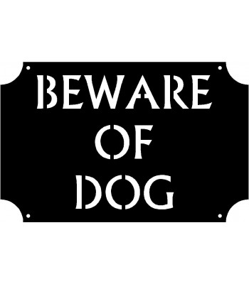 Caution Warning Signs: Beware Of Dog 17x11