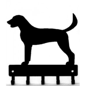 American Foxhound Dog Key Rack/ Leash Hanger