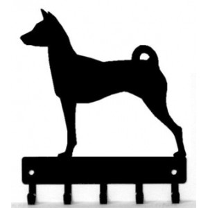 Basenji Dog Key Rack/ Leash Hanger