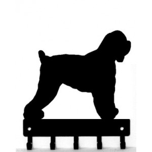 Black Russian Terrier Dog Key Rack/ Leash Hanger