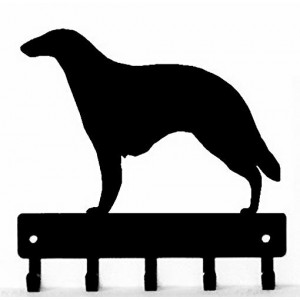Borzoi Dog Key Rack/ Leash Hanger