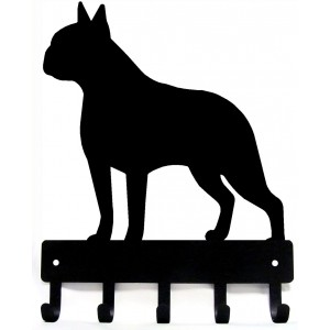 Boston Terrier Dog Key Rack/ Leash Hanger