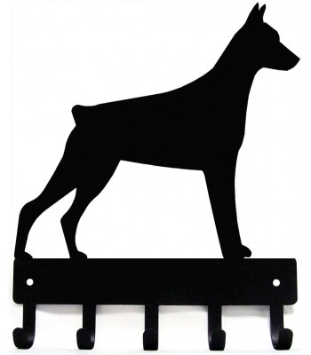 Doberman Dog Key Rack/ Leash Hanger