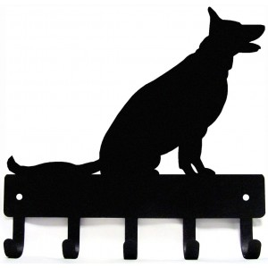 German Shepherd (Sitting) Dog Key Rack/ Leash Hanger