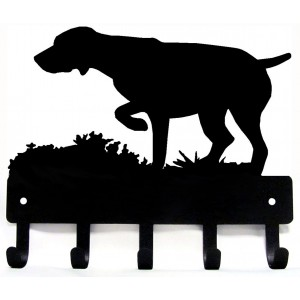 GSP on Point - Dog Key Rack/ Leash Hanger - German Shorthaired Pointer