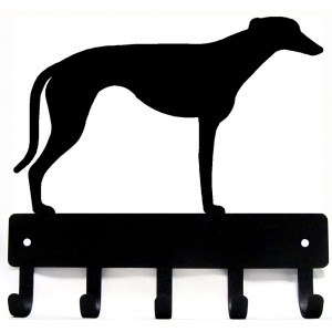 Greyhound Dog Key Rack/ Leash Hanger