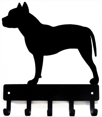 Pit Bull Terrier Dog Key Rack/ Leash Hanger