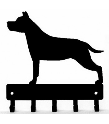 Staffordshire Terrier Dog Key Rack/ Leash Hanger