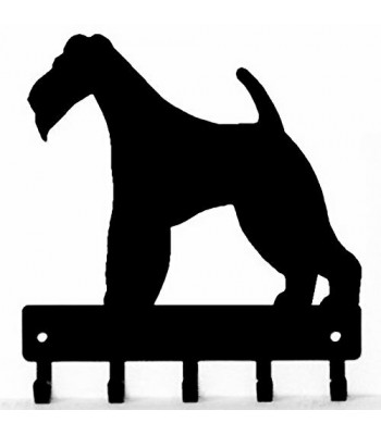 Wire Fox Terrier Dog Key Rack/ Leash Hanger