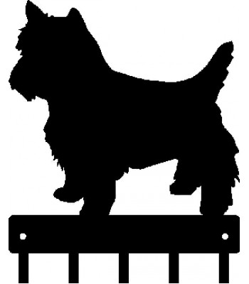 Yorkshire Terrier (Trimmed Yorkie) Dog Key Rack/ Leash Hanger