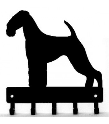 Airedale Terrier Dog Key Rack/ Leash Hanger