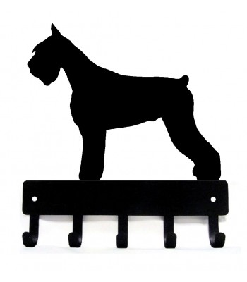 Giant Schnauzer Dog Key Rack/ Leash Hanger