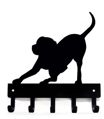 Playful Dog Key Rack/ Leash Hanger