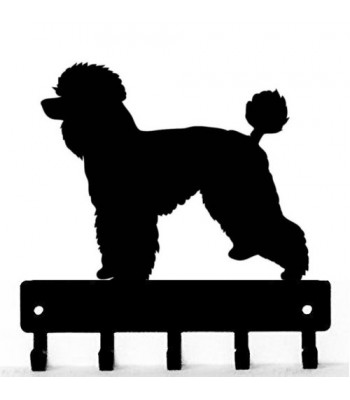 Poodle (Natural) Dog Key Rack/ Leash Hanger