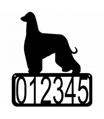 Afghan Hound Dog House Address Sign