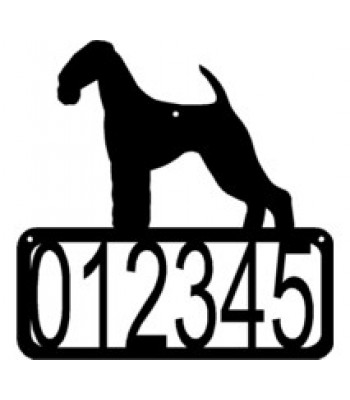 Airedale Terrier Dog House Address Sign