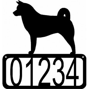 Akita Dog House Address Sign