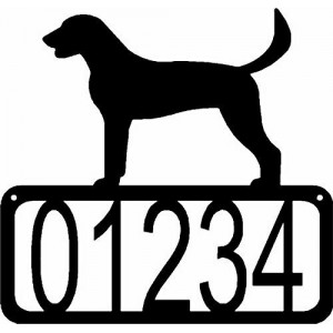 American Foxhound  Dog House Address Sign