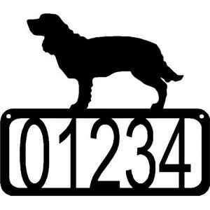 American Water Spaniel Dog House Address Sign