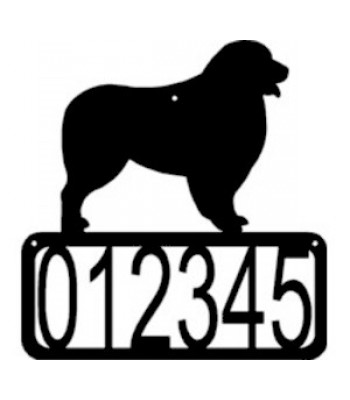 Australian Shepherd Dog House Address Sign