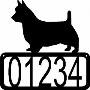 Australian Terrier Dog House Address Sign