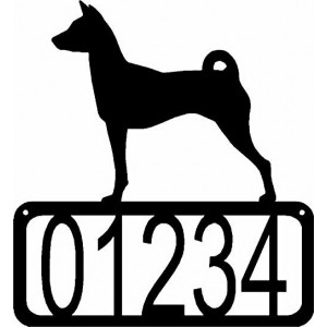 Basenji Dog House Address Sign