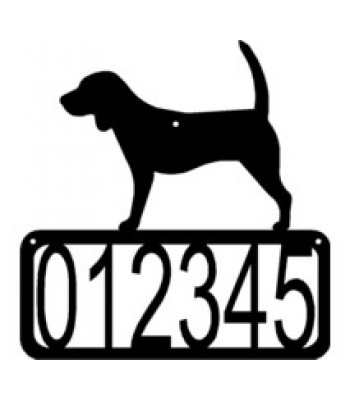 Beagle Dog House Address Sign