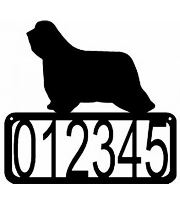 Bearded Collie Dog House Address Sign