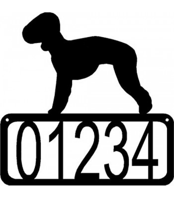 Bedlington Terrier Dog House Address Sign