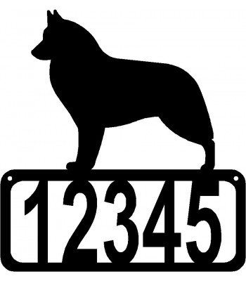 Belgian Sheepdog/Groenendael Dog House Address Sign
