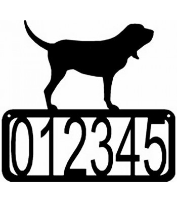 Bloodhound Dog House Address Sign