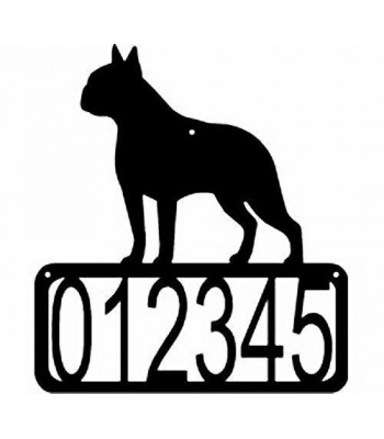 Boston Terrier  Dog House Address Sign