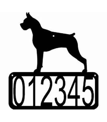 Boxer Dog House Address Sign