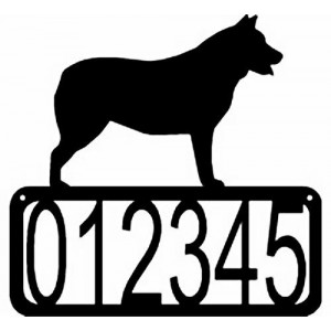 Australian Cattle Dog - Dog House Address Sign